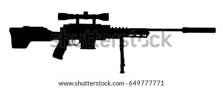 sniper rifle vector silhouette