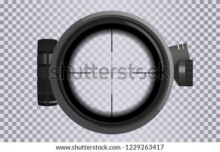 sniper scope crosshairs in