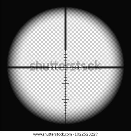 sniper scope crosshairs view