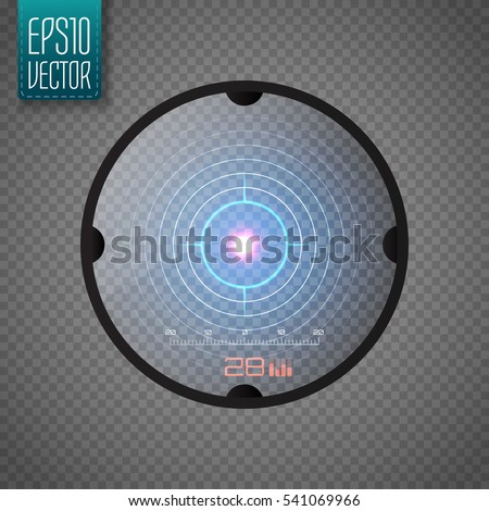 sniper scope isolated neon