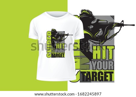 sniper vector art t shirt