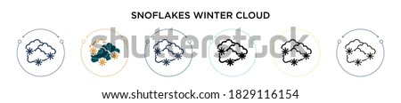 snoflakes winter cloud icon in