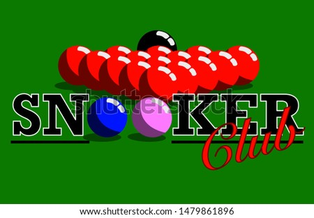 Snooker Club Sign Can be used to make advertising banners or signboards and others.