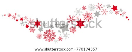 Snow  an stars on the white background. Eps 10 vector file.