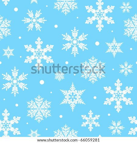 snow background, vector illustration  seamless