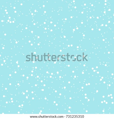 Snow background. Vector illustration with snowflakes. Winter snowing sky. Eps 10.