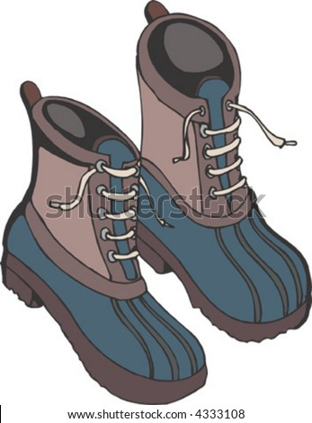 Snow Boots Stock Vector Illustration 4333108 : Shutterstock