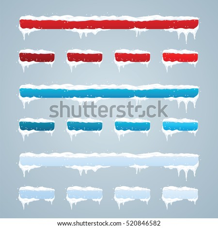 snow caps on menu bar and