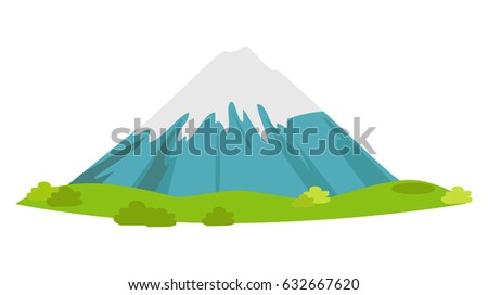 snow covered mountain with