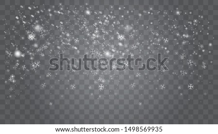 Snow falling winter snowflakes christmas new year design. Abstract snowflake background for your winter design.  White glitter snowflakes falling down