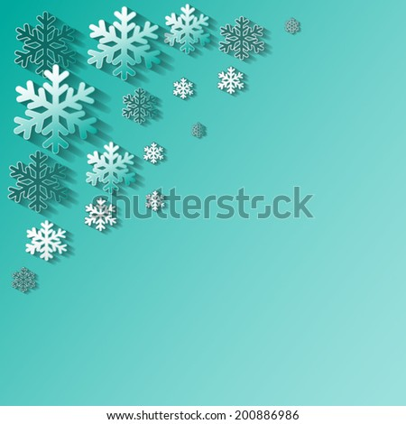 Snow flake of winter, Christmas background, vector illustration #200886986