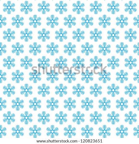 Snow flake seamless pattern. Christmas background. Vector illustration