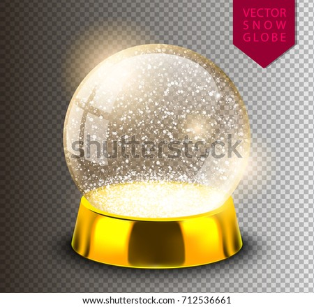 snow globe empty template