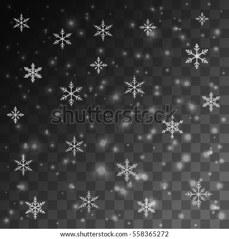 Snow glowing light effect illustration