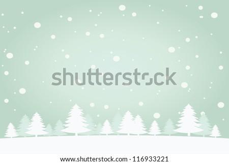 snow landscape background