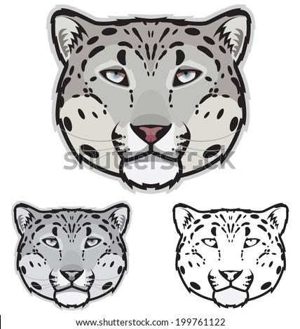 snow leopard faces