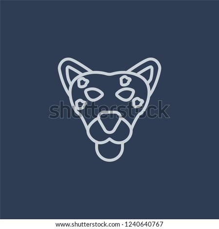 snow leopard icon trendy flat
