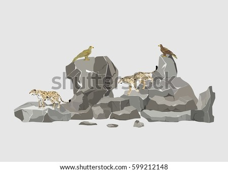 snow leopards and eagles
