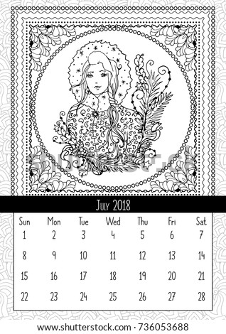 snow maiden coloring book page