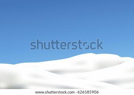 snow on blue sky