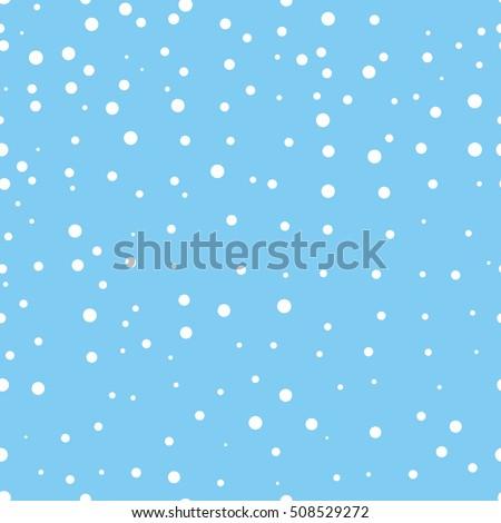 snow seamless pattern flying