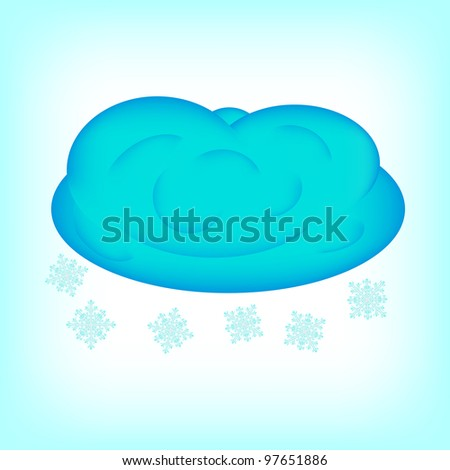 Snow showers, 10eps. - stock vector