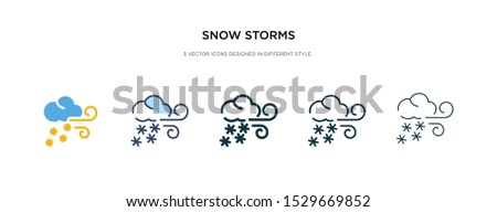 snow storms icon in different