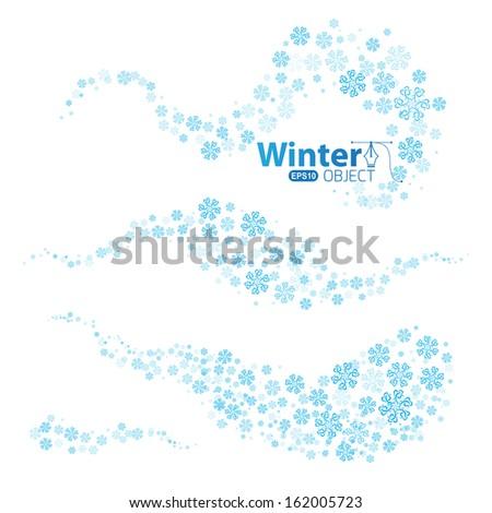 Snow Swirls White giftwrap - shelleymade - Spoonflower