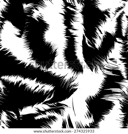 Snow tiger stripes in a seamless pattern .