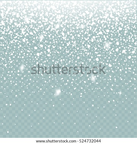 snow vector effect isolated