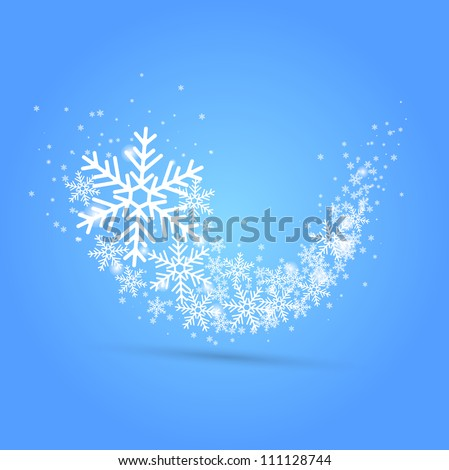 Snow wave. Vector