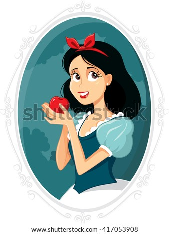 snow white   vector drawing of