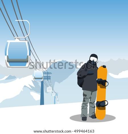 snowboard and ski resort theme