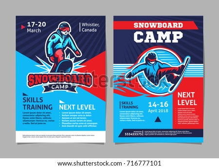 snowboard camp posters  flyer
