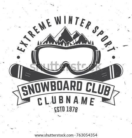 snowboard club vector