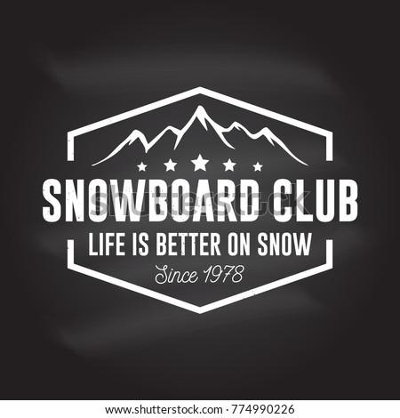 snowboard club vector