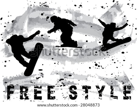 snowboard free style vector
