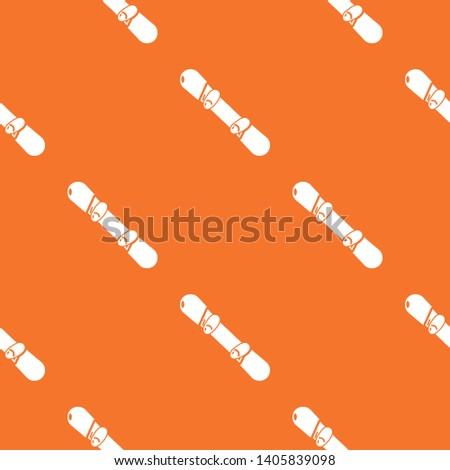 snowboard pattern vector orange