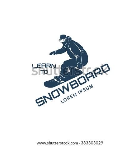 snowboard school logo template