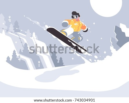 snowboarder guy snowboarding on