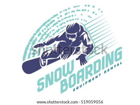 snowboarder in motion sport