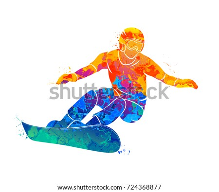 snowboarder jumping sport