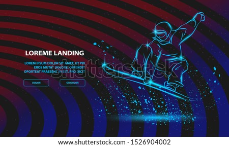 snowboarder jumping with grab
