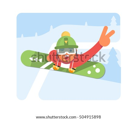 snowboarder man in winter ski