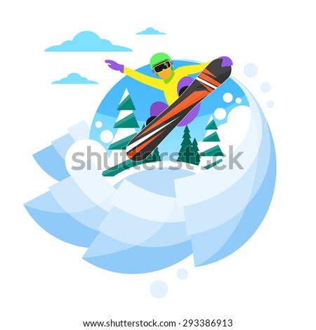 snowboarder sliding down hill