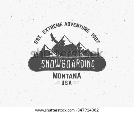 snowboarding extreme logo and
