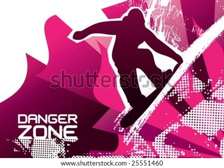 snowboarding poster vector