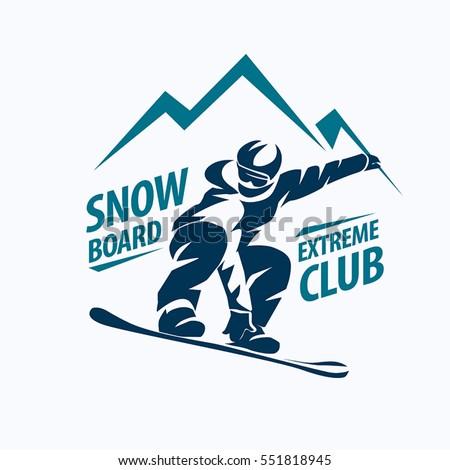 snowboarding stylized symbol