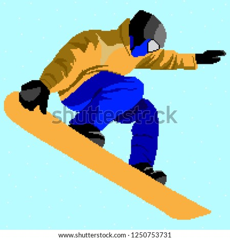 snowboarding stylized vector
