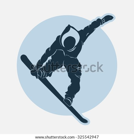 Snowboarding winter sport emblem, T-shirt fashion graphic, Typography Print label. vector